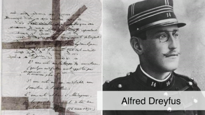 Alfred Dreyfus and his damning evidence in the Dreyfus Affair